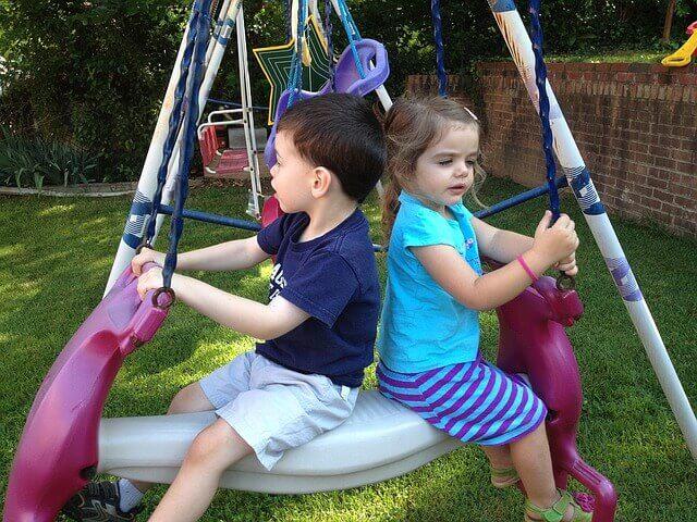 Kids at Swing